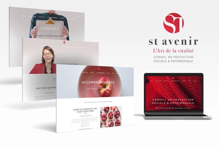 Création du site ST avenir.fr - Sandrine Thibaud