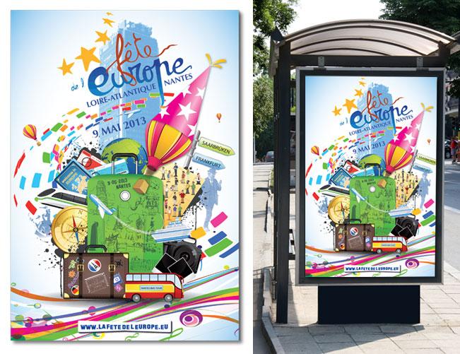 Affiche abris-bus - ville de Nantes