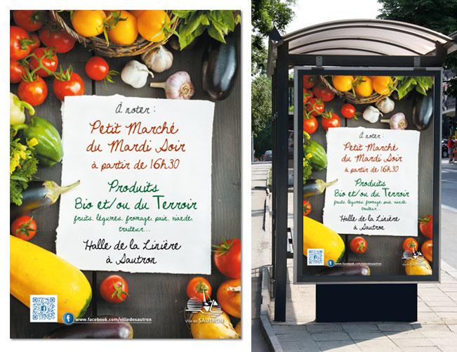 Affiche abris-bus ville de Sautron