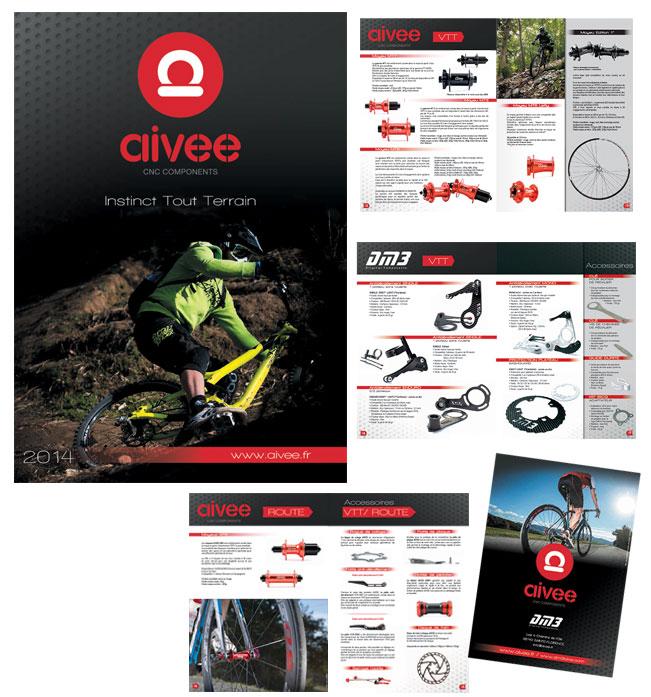 Conception et réalisation de la brochure luxe en finition vernis brillant.