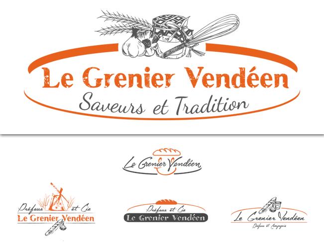 Logo Le Grenier Vendéen (2015) : recherches et logo retenu