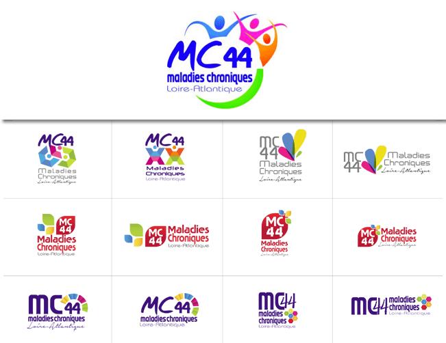 Logo - MC44 (Maladie Chronique Loire-Atlantique) - recherche et retenu