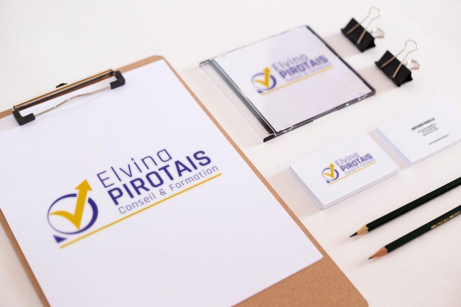 LOGO Elvina PIROTAIS Conseil & Formation
