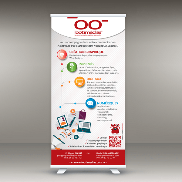 ROLL-UP pour TOOTIMEDIAS