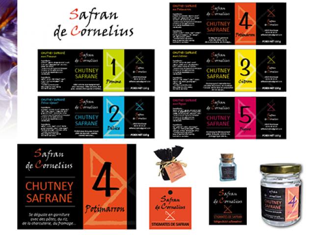 Identité des étiquettes produits  SAFRAN DE CORNELIUS