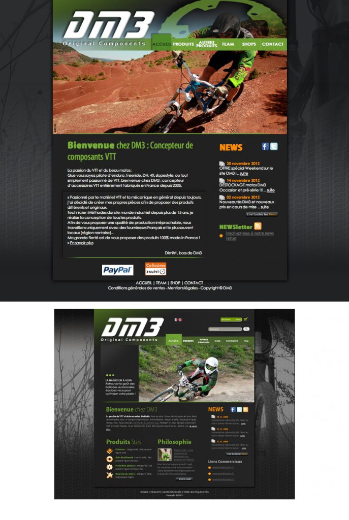 Création du site : DM3bike.com