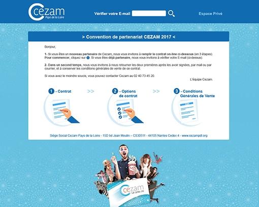 Création du site : Plateforme web privée Partenariat CEZAM Pays de la Loire